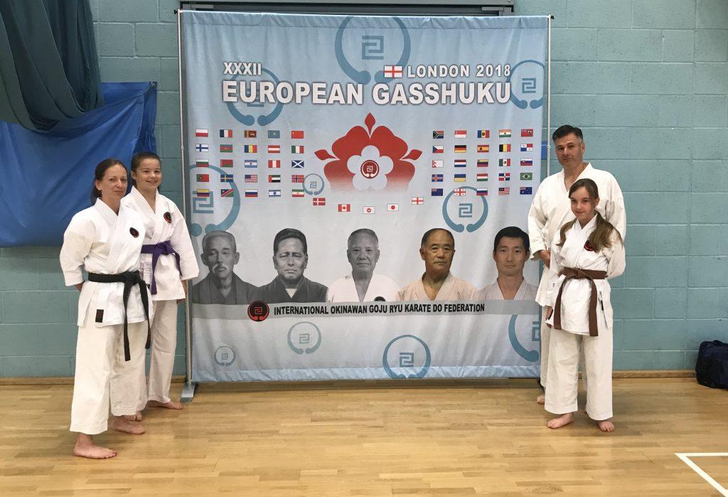 Compton members at European gasshuku: London, 2018