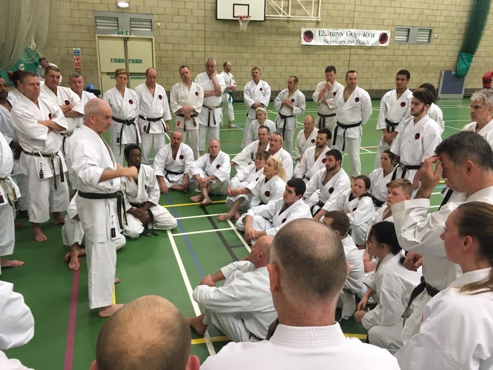 Sensei Ernie Molyneux, UK chief instructor addresses EGKA instructors